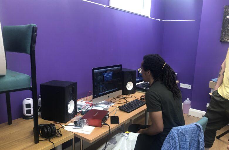 Kwakz at the Music Studio